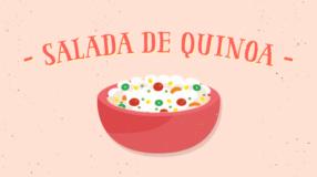 Salada de quinoa simples e nutritiva
