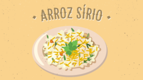 Arroz sírio com cinco ingredientes
