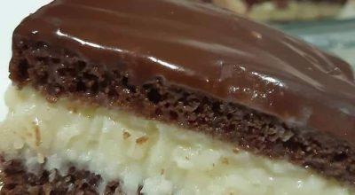 Bolo gelado de prestígio delicioso