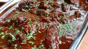 Carne de panela com vinho tinto
