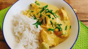 Frango ao curry simples