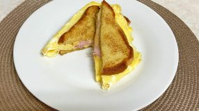 Lanche de frigideira com ovo