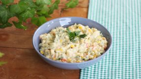 Maionese de batatas com legumes