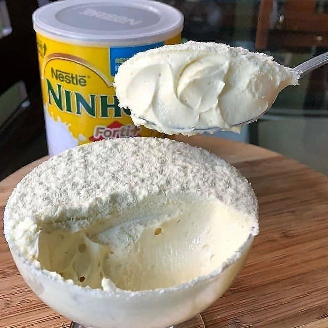 Mousse de leite ninho