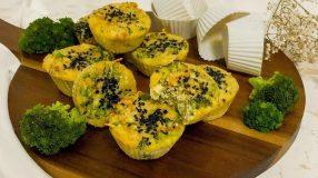 Muffin low carb de brócolis