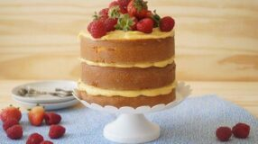 25 receitas de naked cake saborosas e charmosas