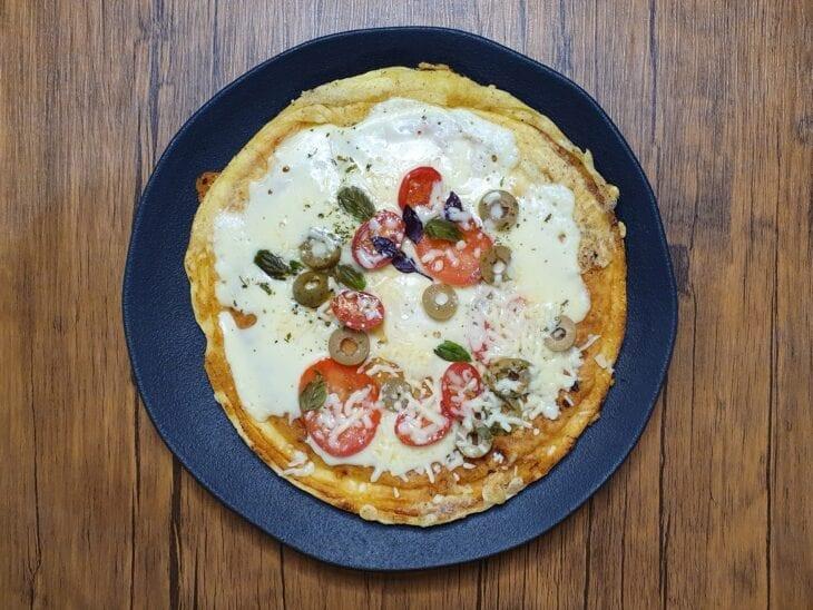 Pizza de frigideira de tapioca - Passo a passo