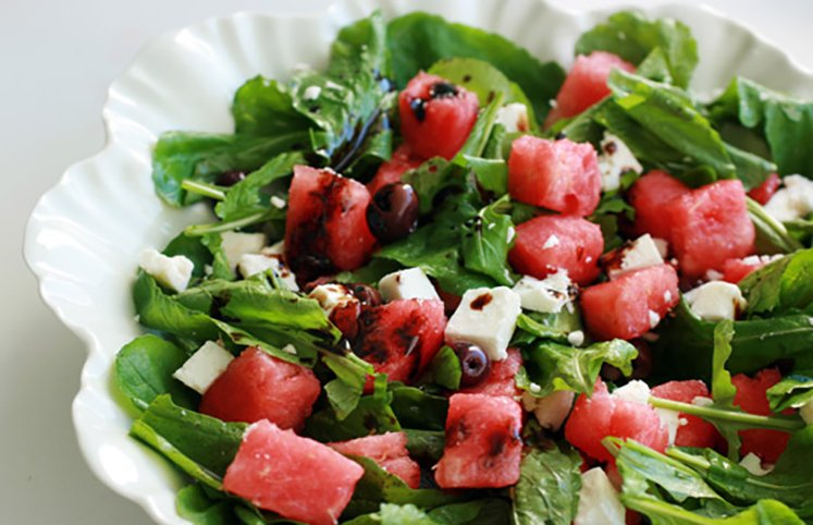 Salada com melancia