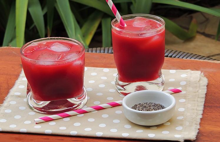 Bebida com melancia