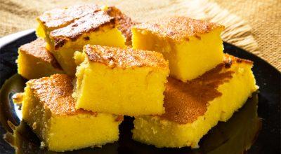 8 receitas de bolo de fubá com queijo para se apaixonar em cada mordida