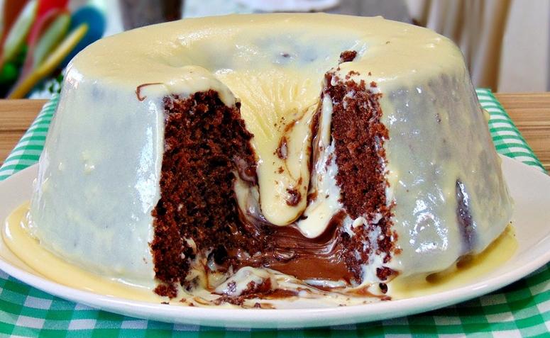10 receitas de bolo vulcão de leite Ninho com Nutella para