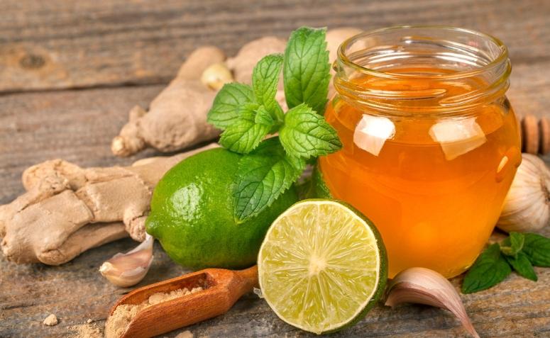 Chá de Limão Gengibre e Mel Pinterest.com 1