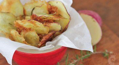 28 receitas de chips de legumes e frutas para curtir um salgadinho saudável