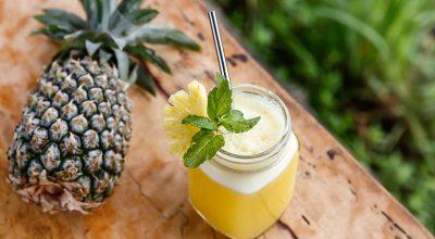 13 receitas de suco de abacaxi com hortelã refrescantes e saudáveis