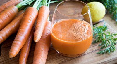 11 receitas de suco de cenoura com limão saudáveis e deliciosas