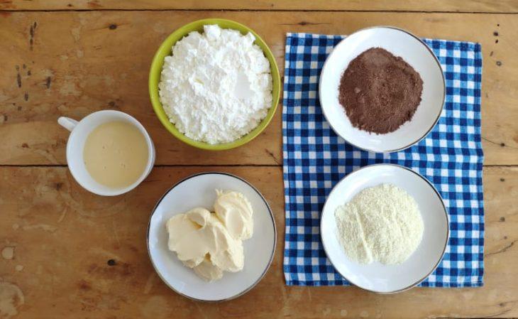 Sequilhos de chocolate e leite Ninho - Passo a passo