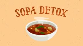 Sopa detox saborosa