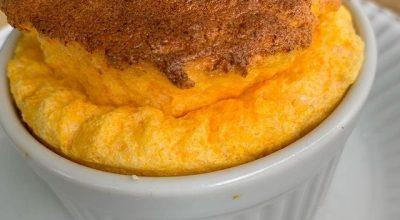 Suflê de cenoura sem farinha