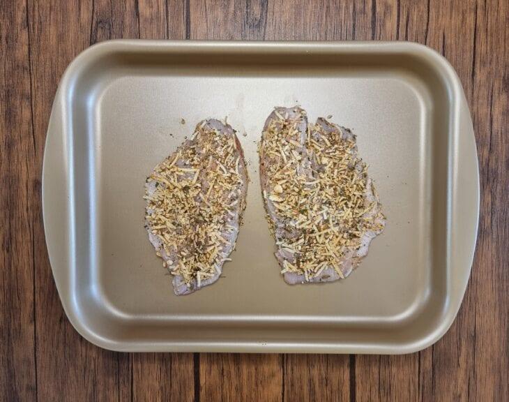 Tilápia assada com crosta de parmesão - Passo a passo