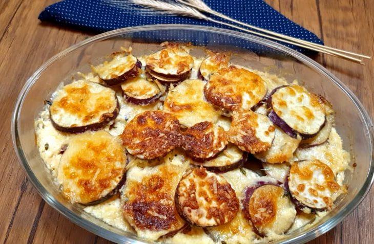 Torta de batata-doce cremosa