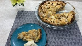 Torta de maçã americana simples