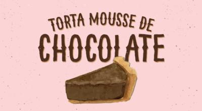 Torta mousse de chocolate irresistível